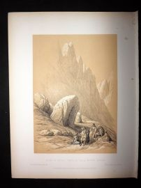 David Roberts Holy Land 4to 1887 Print. Rock of Moses, Wady El-Leja, Mount Horeb